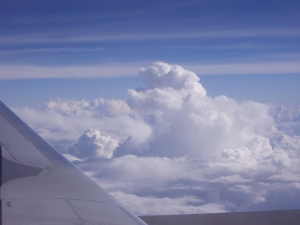 flying over the storms