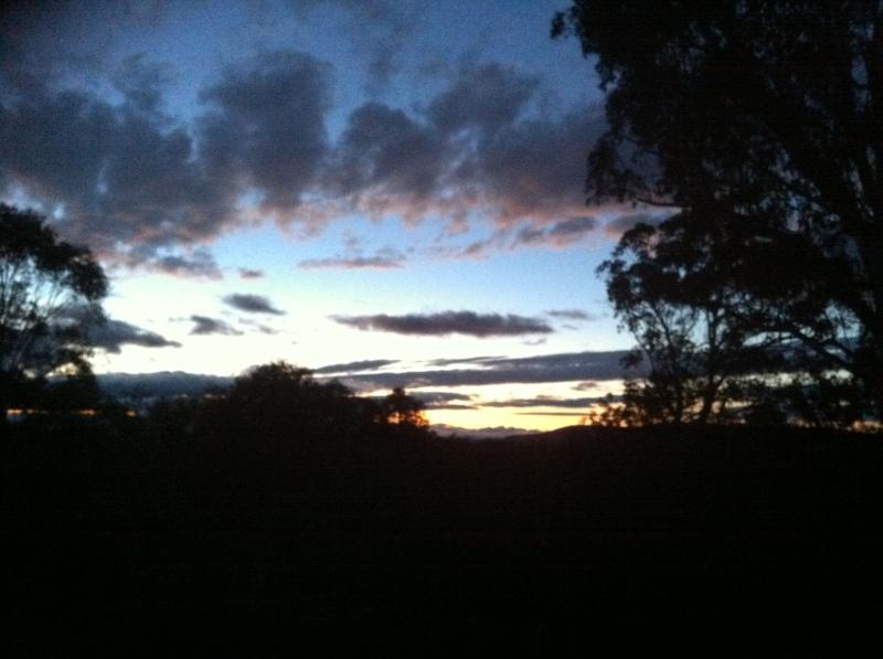 Sunrise at the ski lodge
