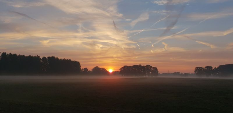 Autumn Sunrise with low fog